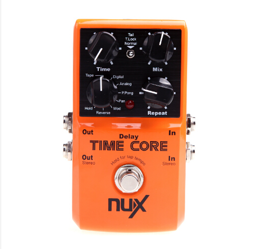 Hot Sale! NUX Time Core Guitar Effect Pedal 7 Delay Models True Bypass High Quality Guitarra Effect Pedal(China (Mainland))