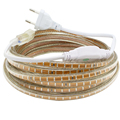 220V 3014 Led Strip Waterproof With EU Power plug IP65 120Leds M Flexible LED Tape Ribbon