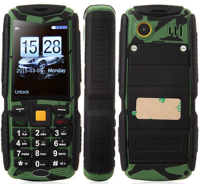 2015 Original Tengda M12 IP68 Waterproof Shockproof Dustproof mobile phone 2200mAh battery Three Sim card outdoor phone(China (Mainland))