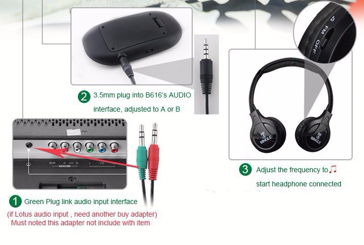 100% High Quality Bingle B616 Computer TV Earphone Multifunction Wireless Headset Headphone with FM Radio for MP3 PC TV Audio