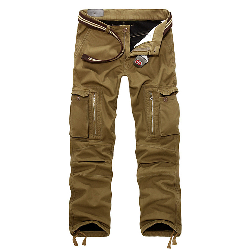 2015 Plus Size Sports Winter Double Layer Men's Cargo Pants Military Camouflage Outdoor Army Baggy Jogging Cotton Trousers(China (Mainland))