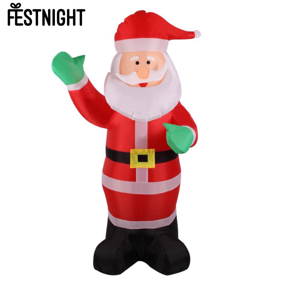 1.8m Inflatable Santa Claus Waving Hand Christmas Inflatable Santa Claus Cute Decoration 5.9ft Outdoor Inflatable Statues(China (Mainland))
