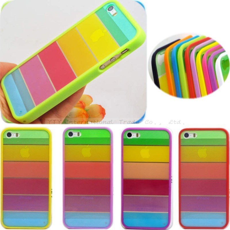 5/5S/SE 1PC Beautiful Rainbow Phone Protection Cover/Cases iphone 5 5S SE Fit Apple Phone5S case /shell 2016 Newest Hot! - Mobile Accessories/Case And Mp3 Store store