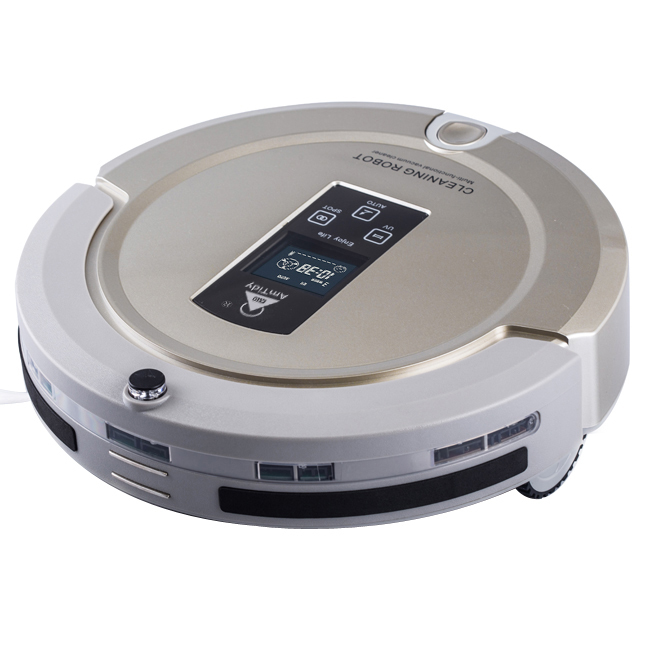 Multifunction Intelligent Home Robot Mini Vacuum Cleaner Sweep Vacuum Mop Sterilize LCD Touch Screen Schedule AmTidy A325(China (Mainland))