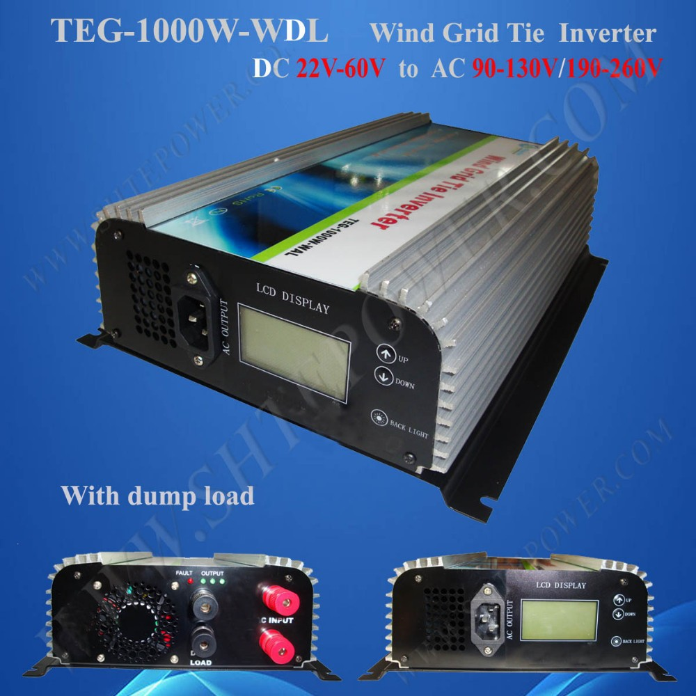 1kw grid connected wind turbine inverter dc 22-60v input to ac 190-260v output(China (Mainland))