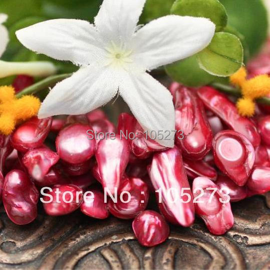New Arriver Pearl Jewelry Rich Fuchsia Pink Freshwater Blister Stick Pearls Loose Beads 15inch/String 9-12mm Wholesale Free Ship<br><br>Aliexpress