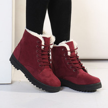 Women Boots 2017 Winter Boots Women Warm Fur Ankle Boots For Women Warm Winter Shoes Botas Mujer bota feminina(China (Mainland))