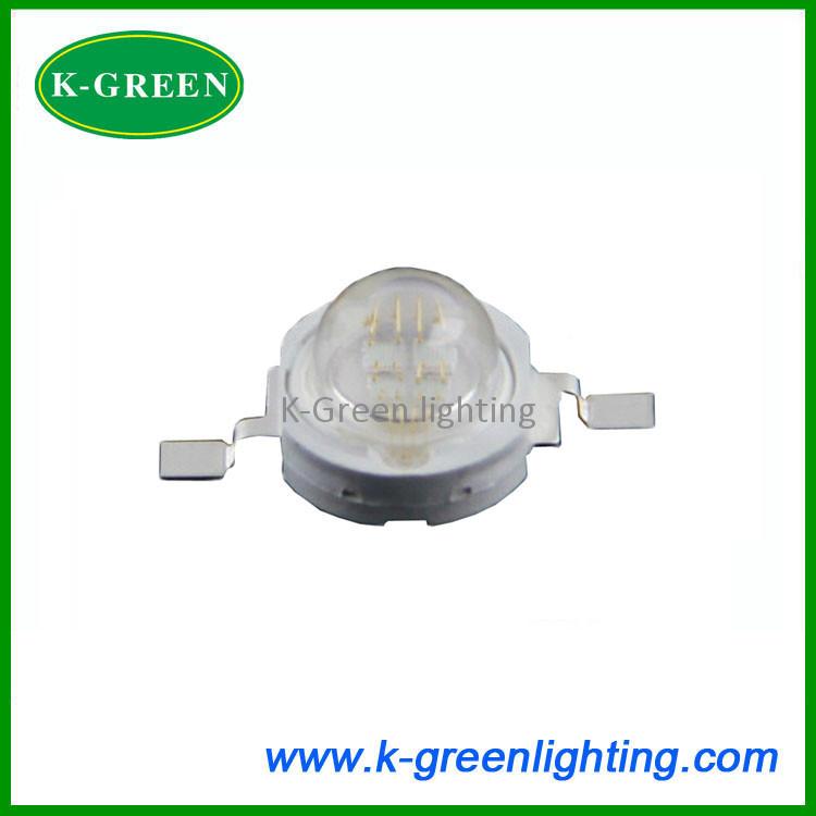 High power 5X 4chip 5W UV led 370-375nm led light source free shipping(China (Mainland))