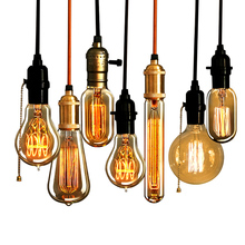 Antique Retro Vintage E27 40W 220V Incandescent Light Bulbs Edison Light Bulb E27 Incandescent Light Lamps Filament Bulb (China (Mainland))