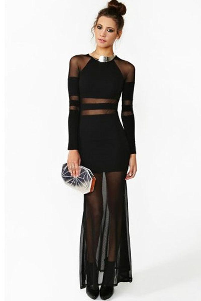Wholesale bandage dress Women's Sexy Shadow Stripe Maxi ... - photo #21