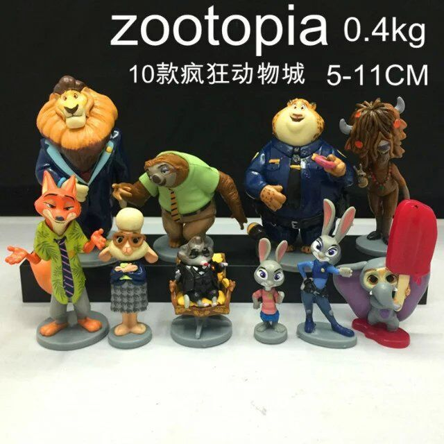 NEW hot 5-11cm 10pcs/set Zootopia Zootropolis JUDY Hopps NICK WILDE collectors action figure toys Christmas gift doll WITH BOX(China (Mainland))