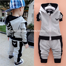 Newborn Set Baby Boys Girls Clothes Childrens Outwear Jackets With Zipper + Pants 2pcs Sports Suits Kids Outfits Roupas De Bebes(China (Mainland))