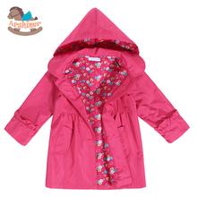 Arshiner primavera giacche e cappotti 2016 nuova ragazza di modo del capretto del bambino impermeabile con cappuccio cappotto outwear impermeabile(China (Mainland))