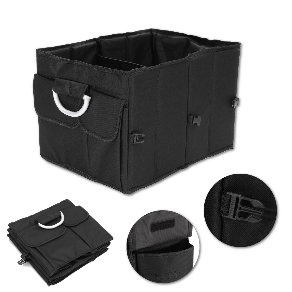 Storage Bag Collapsible Auto Trunk Organizer Storage Box Durable and Foldable Cargo Container for Car Storage 44x32x30CM(China (Mainland))