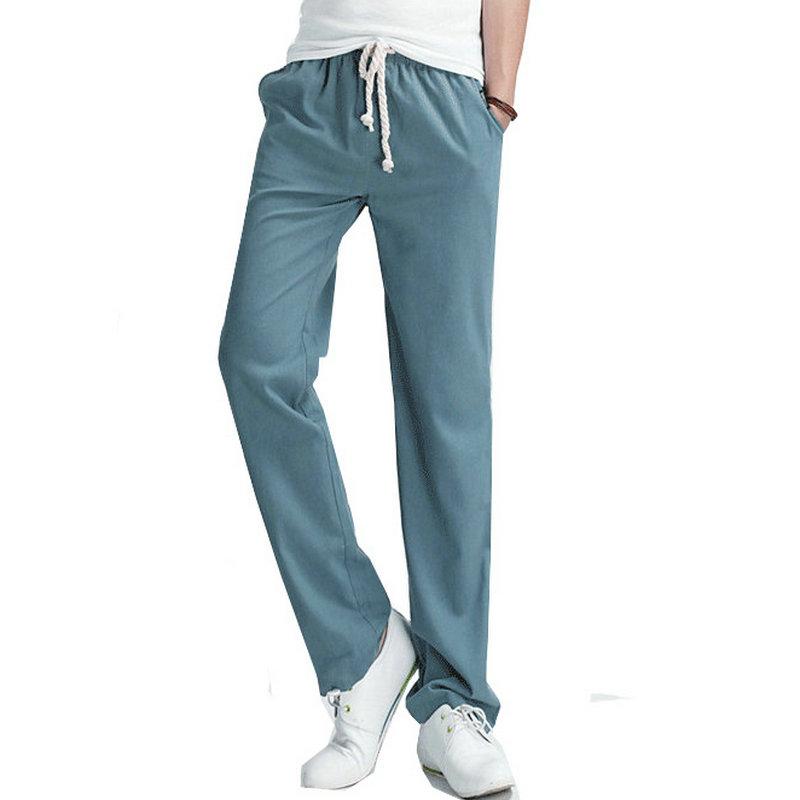 2016 Top Selling Solid Spring Summer Men Linen Pants ...