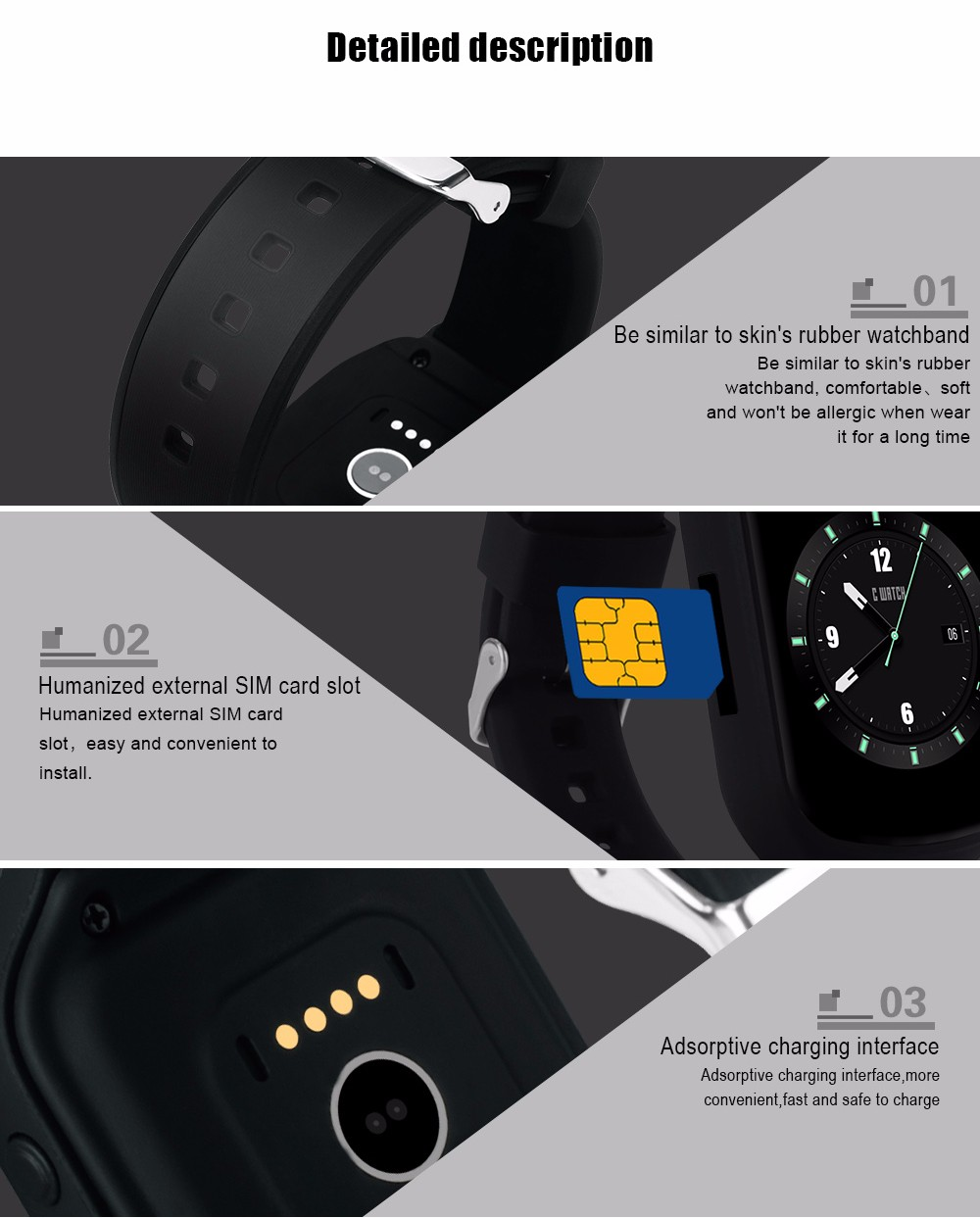 Z80 Bluetooth Smart Watch Android 5.1 Nano SIM GPS/AGPS WiFi SOS WCDMA 3G Network Smartwatch For Android IOS Smart Phone