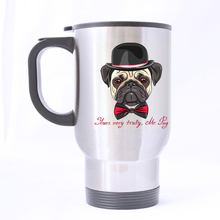 the office star mug. luxury smart cute pug dog custom star design silver travel mug sports bottle coffee mugs office home cup 14 oz two sides printed the