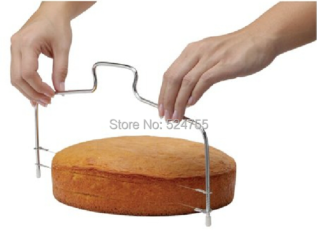 New Double Line Adjustable Stainless Steel Metal Cake Cut Tools Cake Slicer Device Decorating Mold Bakeware Kitchen Cooking Tool(China (Mainland))