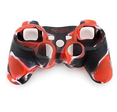 Free Shipping Silicone Protective Case For PS3 Controller Army Red