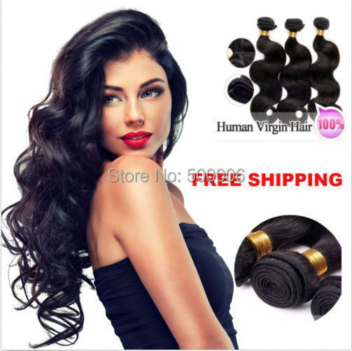50% off unprocessed brazilian hair weft body wave natural color remy virgin brazilian human hair extensions 3pcs/lot<br><br>Aliexpress