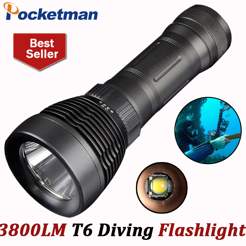 Cree xml t6 3800 Lumens Diving flashlight led diving light buceo dive torch Underwater flash light lanterna by 18650 26650 ZK93(China (Mainland))