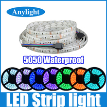 5M led strip 5050 waterproof rgb/red/green/blue/white/warm white16.4ft smd flexible strips light With self-adhesive WLED07(China (Mainland))