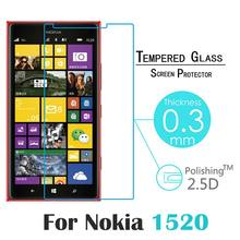 9H Surface Hardness 2.5D Mobile Phone 0.3MM Tempered Glass film For Nokia Lumia 620 1520 Screen Protector case Explosion-proof