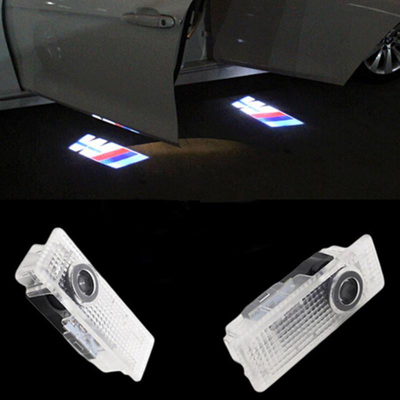 2X Cree Car LED Courtesy Door Logo Projector Light Ghost Shadow Light FOR BMWMMM E60 E90 X1 X3 X5 X6 M3 M5 M6 F10 F30 F15(China (Mainland))