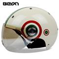 2016 new arrival brand BEON half helmet vintage Scooter helmet summer motorcycle helmet moto cascos B