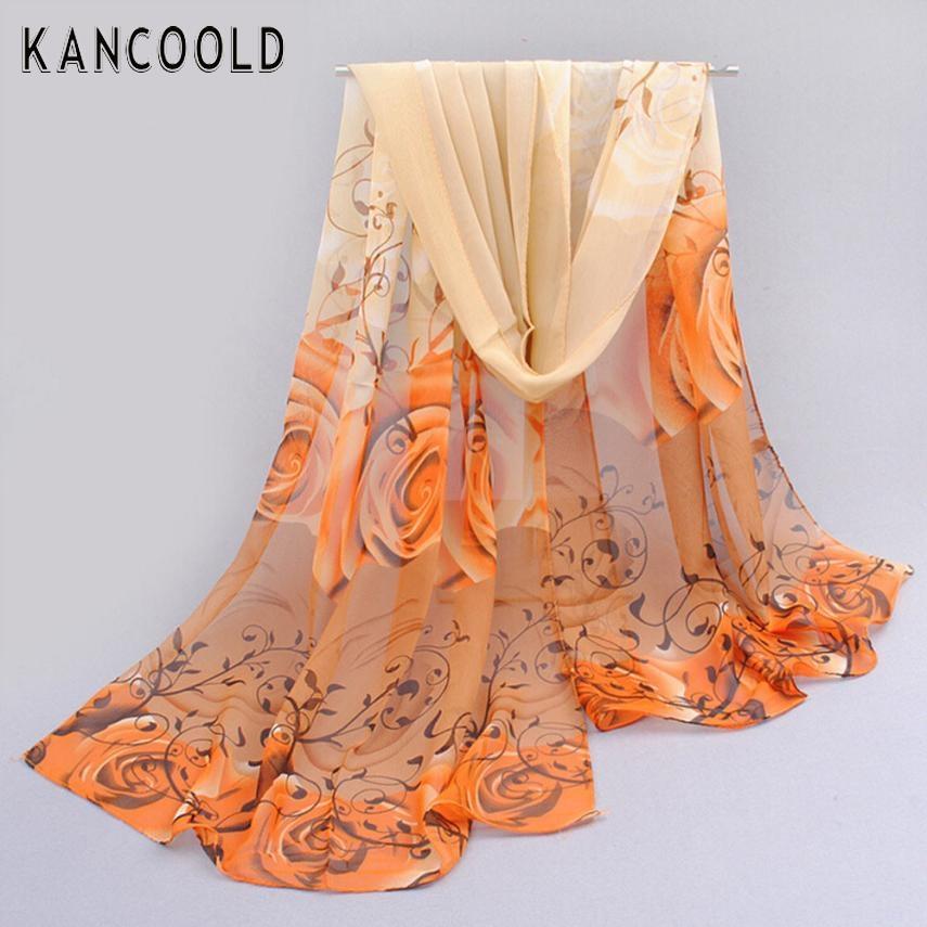Women lady lover flower chiffon scarf Thin Soft Scarf women shawl Beach sunshine cover female beautiful scarf JN6(China (Mainland))