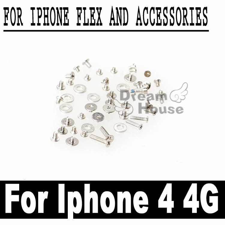 10set/lot 100% Original Factory Outlet Full Set Screw For Apple iphone 4 4G Full Screws Replacement Part Free Shipping