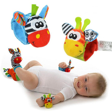 Baby Rattle Toys 2014 New Garden Bug Wrist Rattle Foot Socks Multicolor 2pcs Waist+2pcs Socks=4pcs/lot Free shipping