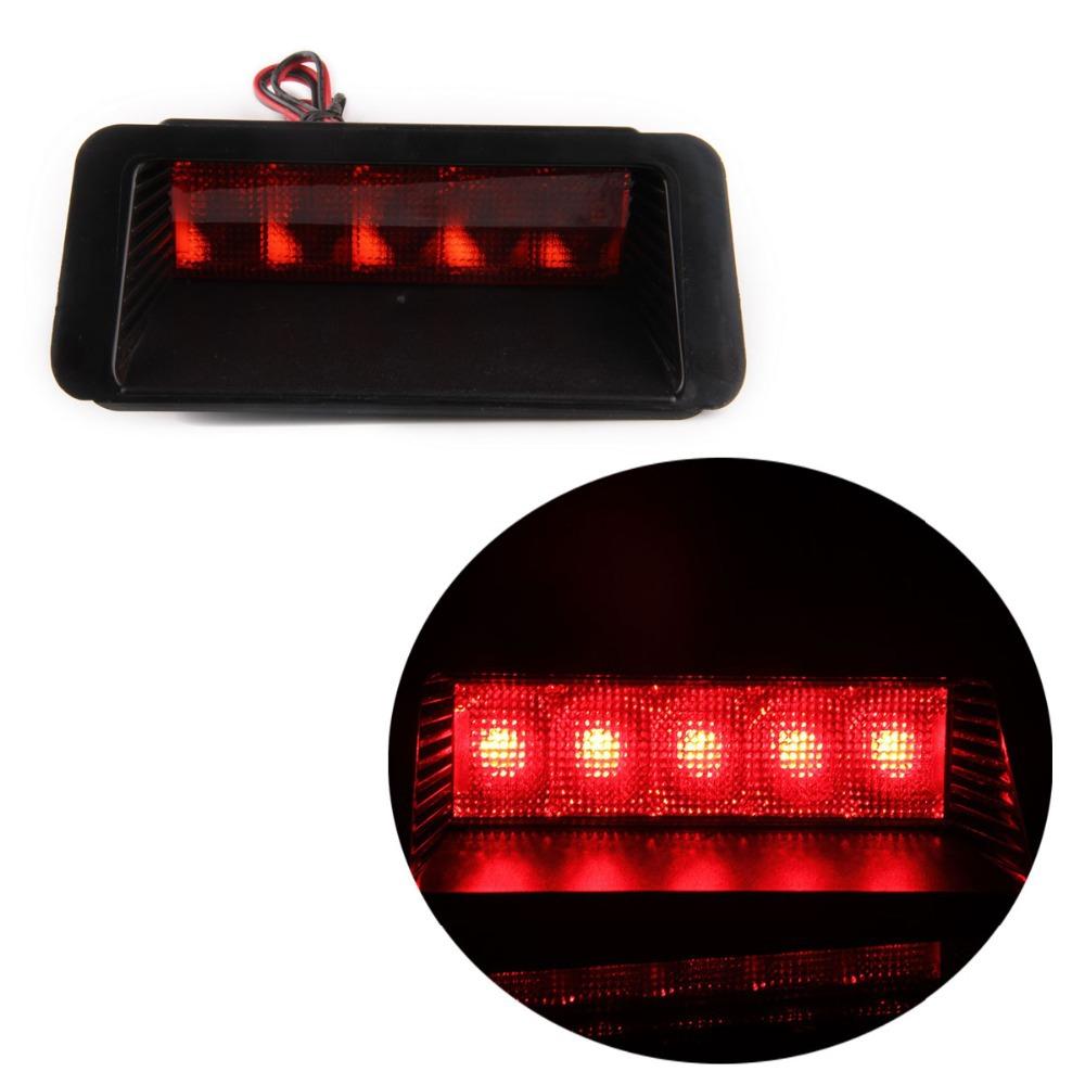 Universal Red 5SMD LED DC12V Car Third 3RD Brake Stop Tail Light Lamp Practical(China (Mainland))