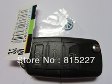10pcs/lot VW Volkswagen 3 Button Remote Key Shell Case Car Key Blank Cover