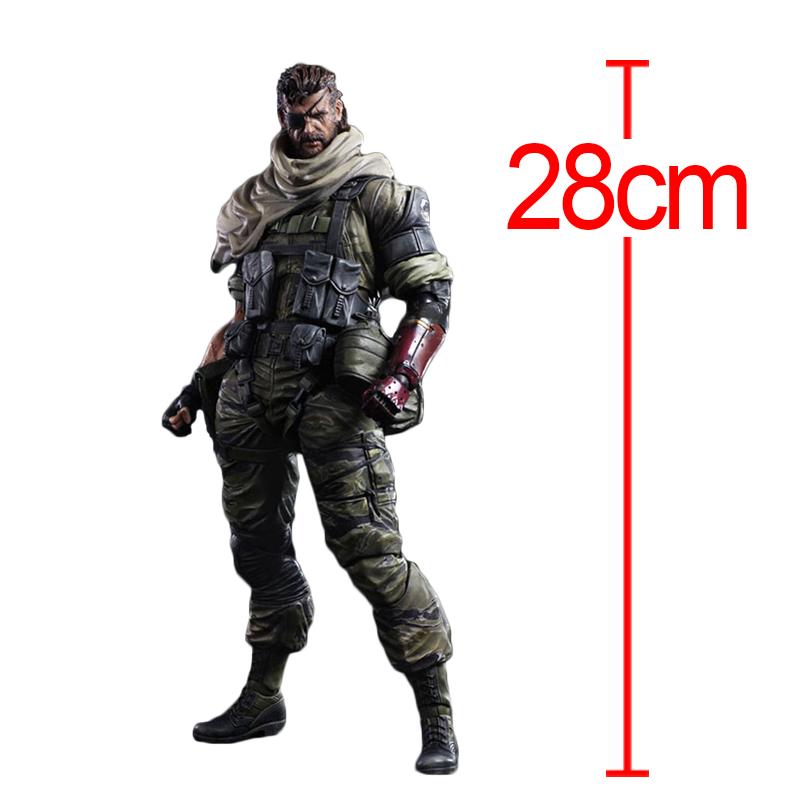 "11"" Metal Gear Solid V The Phantom Pain PlayartsKai Toys Venom Snake Collection Model Metal Gear Solid PlayArts With Retail Box(China (Mainland))"