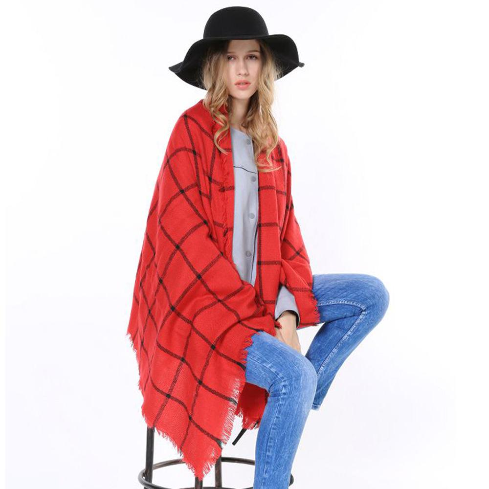 Cheap High Quality Big Plaid Winter Lady Vintage Classic Soft Shawl British font b Tartan b