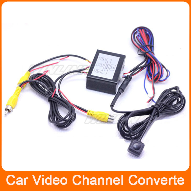 Auto Parking Video 2 Channels Converter Front View and Rear View Car Camera Video Control System Camera Converter Box(China (Mainland))