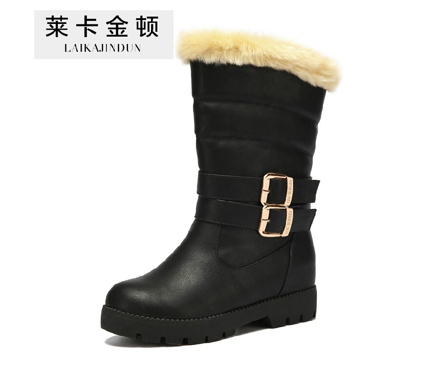 2015 new s winter boots knee high platform snow