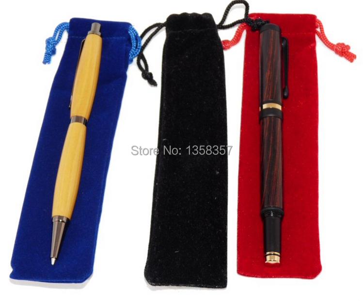 free shiping velvet jewelry pouch velvet pouch pen pouch velvet record pen pouch fountain pen bag custom logo(China (Mainland))