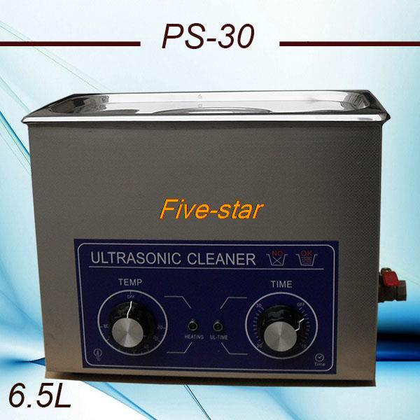 free shipping to globe PS-30 AC110/220v Ultrasonic cleaner 6.5L 40KHZ for electronic components ,Dentures cleaning machine(China (Mainland))
