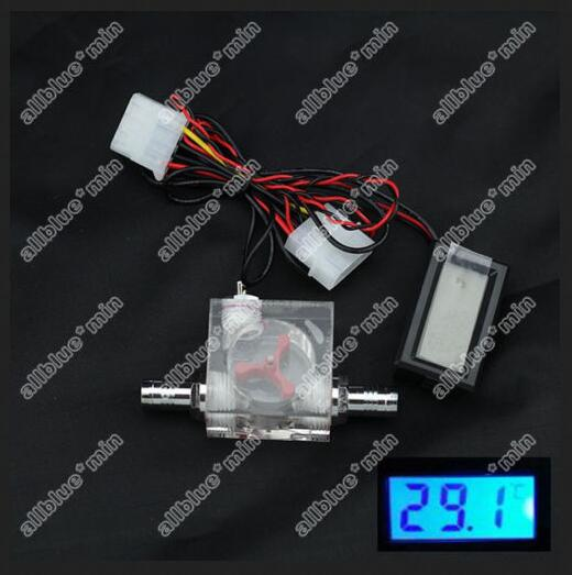 Flow Scout Meter And Digital Thermometer For Water Liquid Cooler System CPU(China (Mainland))