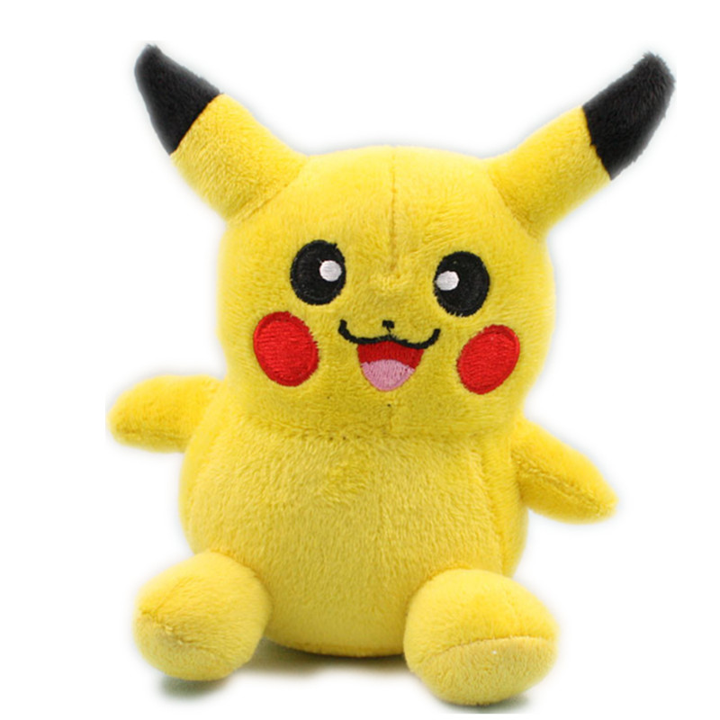 "5.5"" Pokemon Pikachu Plush Toys 14cm Cute Pikachu Stuffed Toy Doll For Kids Birthday Christmas Gift(China (Mainland))"
