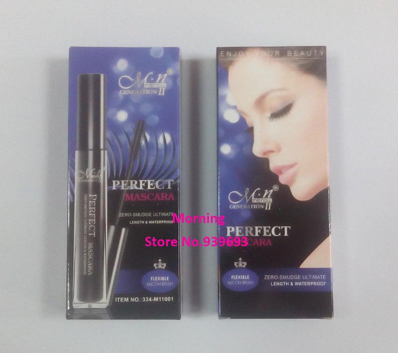 36pcs Menow M11001 perfect waterproof mascara beauty makeup black color (1 mascara+2 eye liner pencils) brand makeup(China (Mainland))