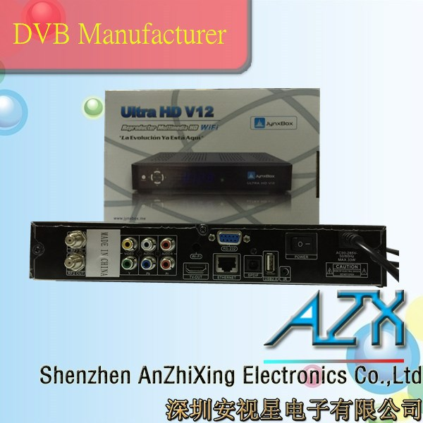 satellite receiver with internet connection JynxBox Ultra HD V12 digital satellite receiver(China (Mainland))