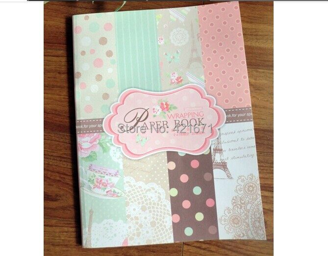 2015 DIY Decorative gift wrapping Paper Book 32sheet/set, pink polka dot pattern Scrapbooking pack Set,origami,paper craft - ZowColor jewellry store