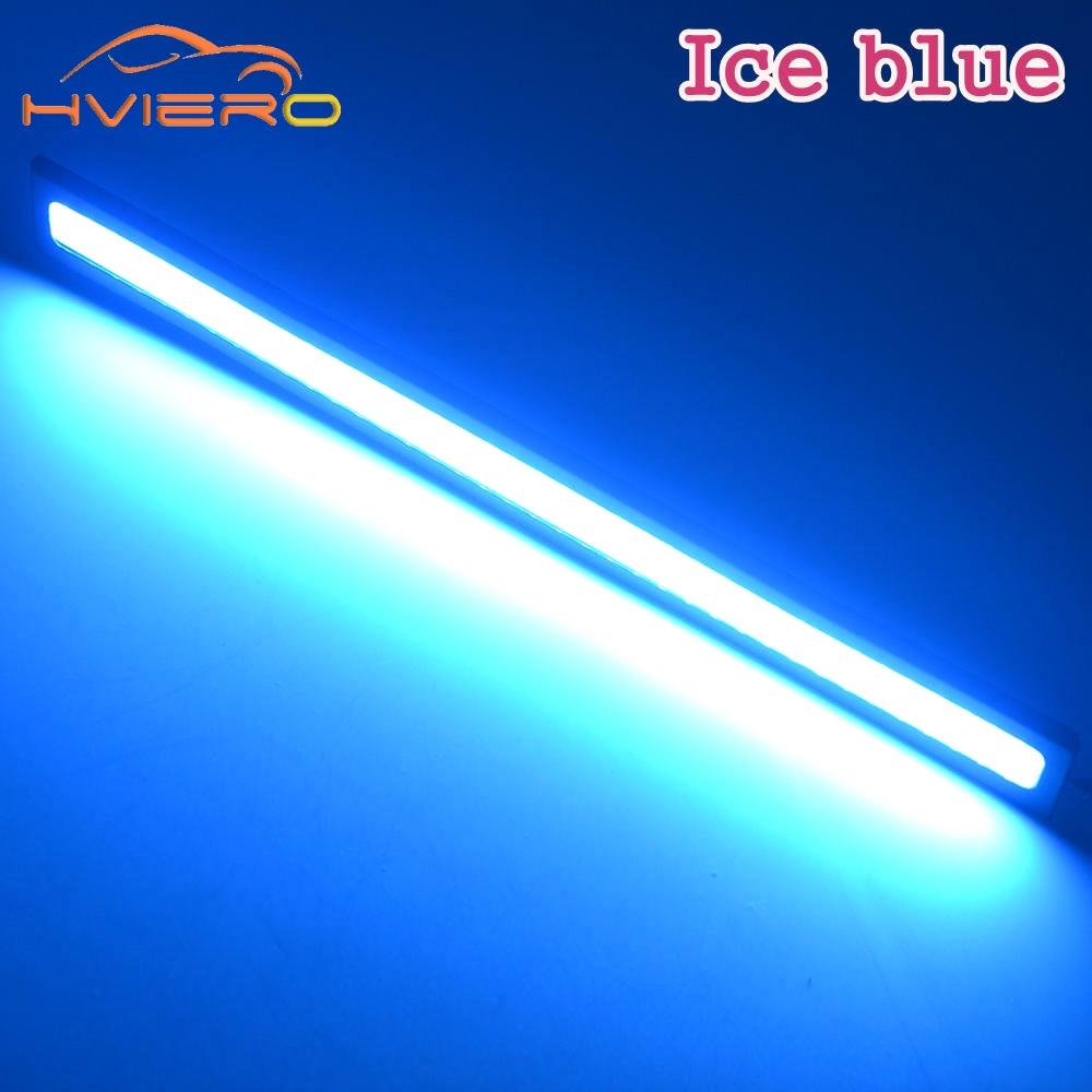 2X New update Ultra Bright LED Blue Daytime Running lights DC 12V 17cm Waterproof Auto Car DRL COB Driving Fog lamp High Quality