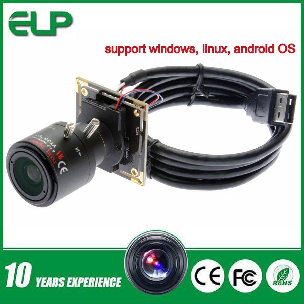 1.3 Megapixel 960P HD low illumination 0.01lux 2.8-12mm varifocal lens cctv USB camera module ELP-USB130W01MT-FV
