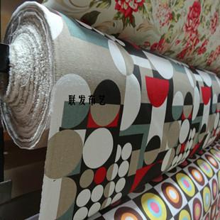 Printed cloth 100% cotton canvas fabric pillow fashion circle cushion table cloth sofa diy