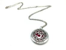 Exclusive Design Antique Silver Moola Mantra Pendant Celti Locket Diffuser Necklace Essential Oil Locket Yoga Jewelry