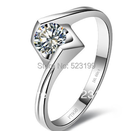 Wholesale wedding ring 925 sterling silver engagement ring SONA Synthetic diamond genuine women ring promise eternal anniversary(China (Mainland))